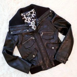 Badass DKNY Leather Moto Jacket